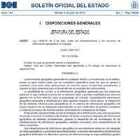 Ley sobre IDE y Servicios de Información Geográfica en España