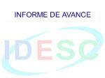 Trigésimo Informe de Avances de la IDESC