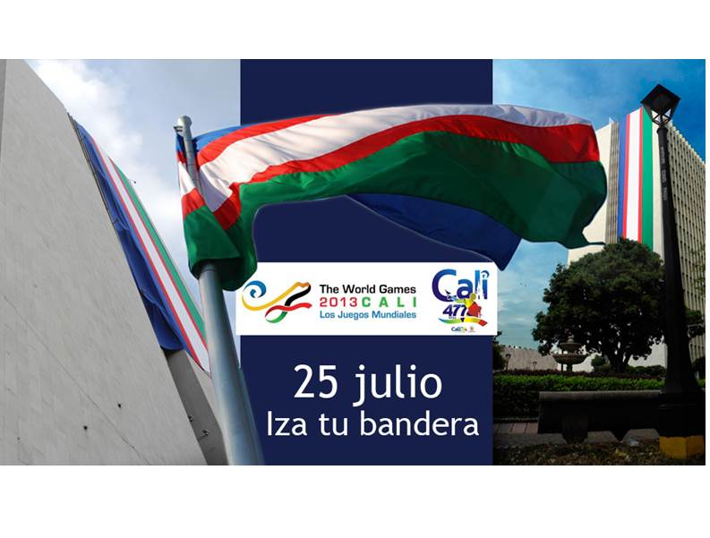 La ciudadanía debe izar la bandera de Cali, este 25 de julio por sus 477 años y por ser la capital mundial del deporte