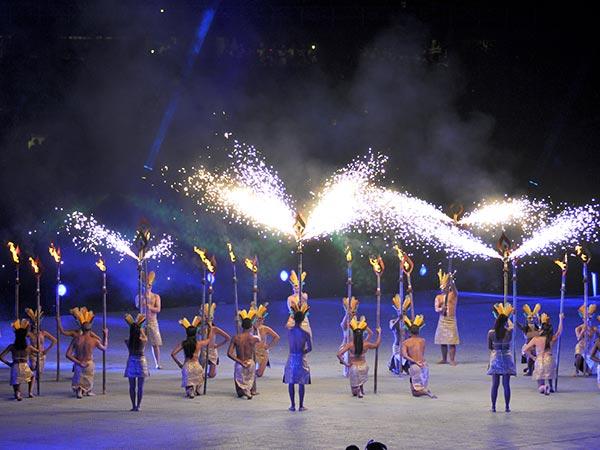 'Metamorfosis', una puesta en escena con derroche de tecnología en la inauguración de los World Games