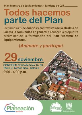 Socialización de la propuesta preliminar de la formulación del Plan Maestro de Equipamientos