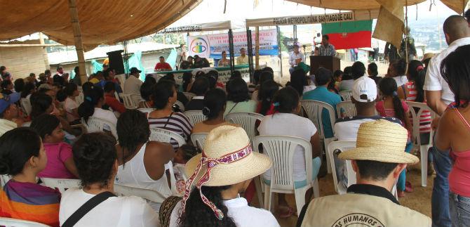 Policía y Secretaria de  Gobierno realizaron consejo comunitario con indígenas