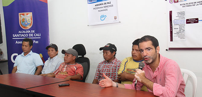 Este lunes en Pereira, reunión para relocalizar a los embera