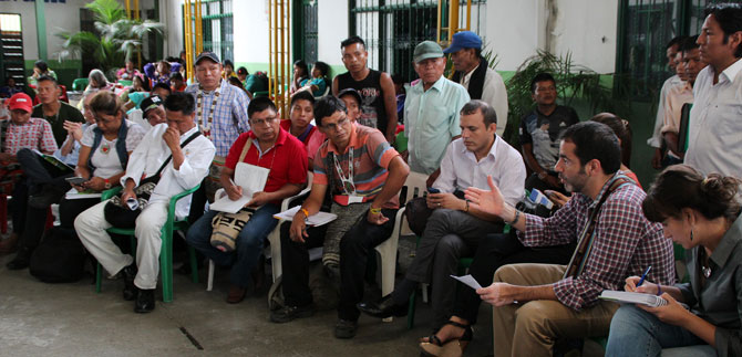 Emberas de El Calvario se comprometen a retornar a Pueblo Rico este 5 de mayo