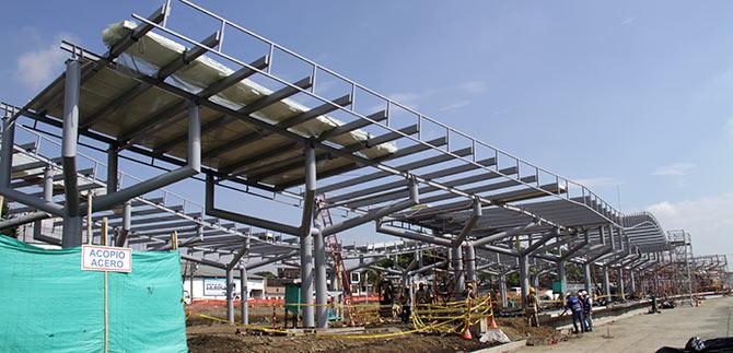 Terminal de Cabecera Paso del Comercio tiene un avance de obra del 50 %
